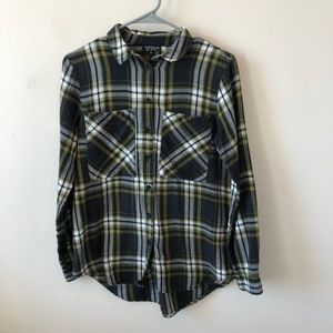 Topshop Multicolored Plaid Long Sleeve- Size 8